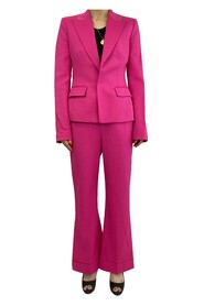 Fitted blazer and high waisted wide leg trousers