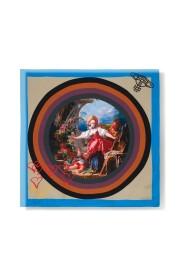 Foulard in seta multicolore con dipinto