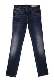 DIESEL SKINZEE-LOW-J ZZ JEANS Girl DENIM DARK BLUE