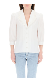 silk shirt with lace