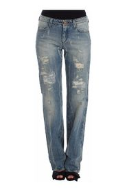 Distressed Boyfriend Jeans Straight
