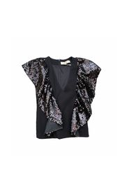 V-NECK TOP WITH SEQUINS