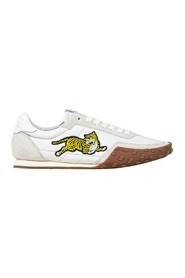 Kenzo Move canvas and suede leather logo sneakers