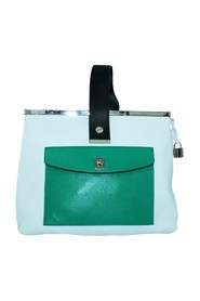 Pocket Frame Three Color Handbag -Pre Owned Condition Gently Loved