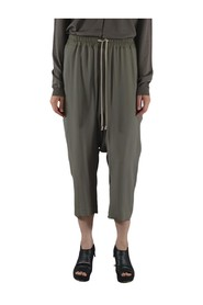 DRAWSTRING CROPPED PANTS DUST
