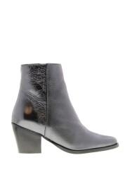 Ella square 10-d rødgods crack læder støvle