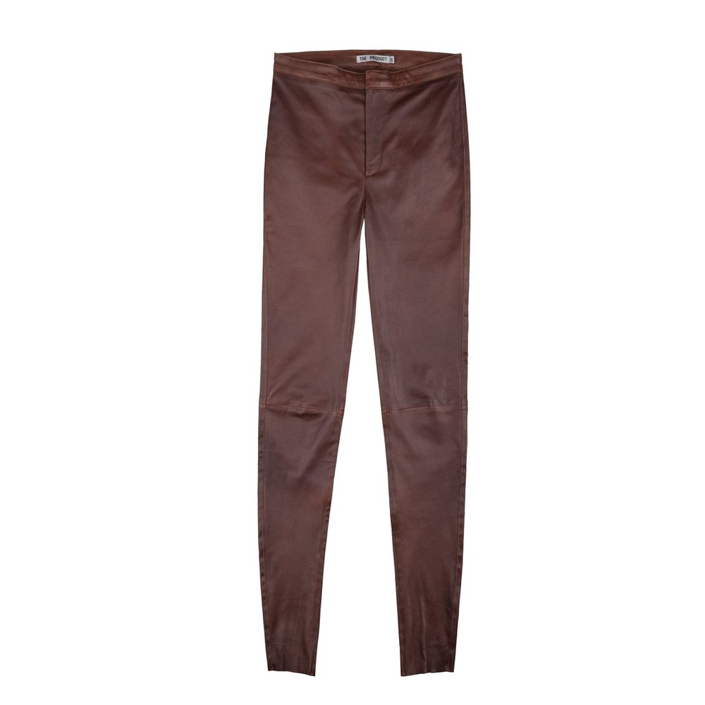 Brun The Product Wmn Leather Pant Bukser