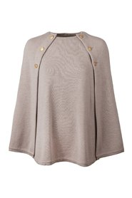 Poncho with gold buttons