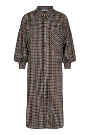 Yates Check Shirt Dress