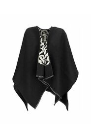 cape with jacquard