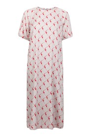 Short sleeve dress with graphic print