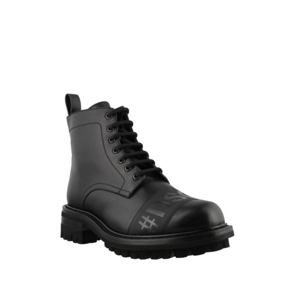 Dsquared2 as shown on picture Leather boots with logo Dsquared2