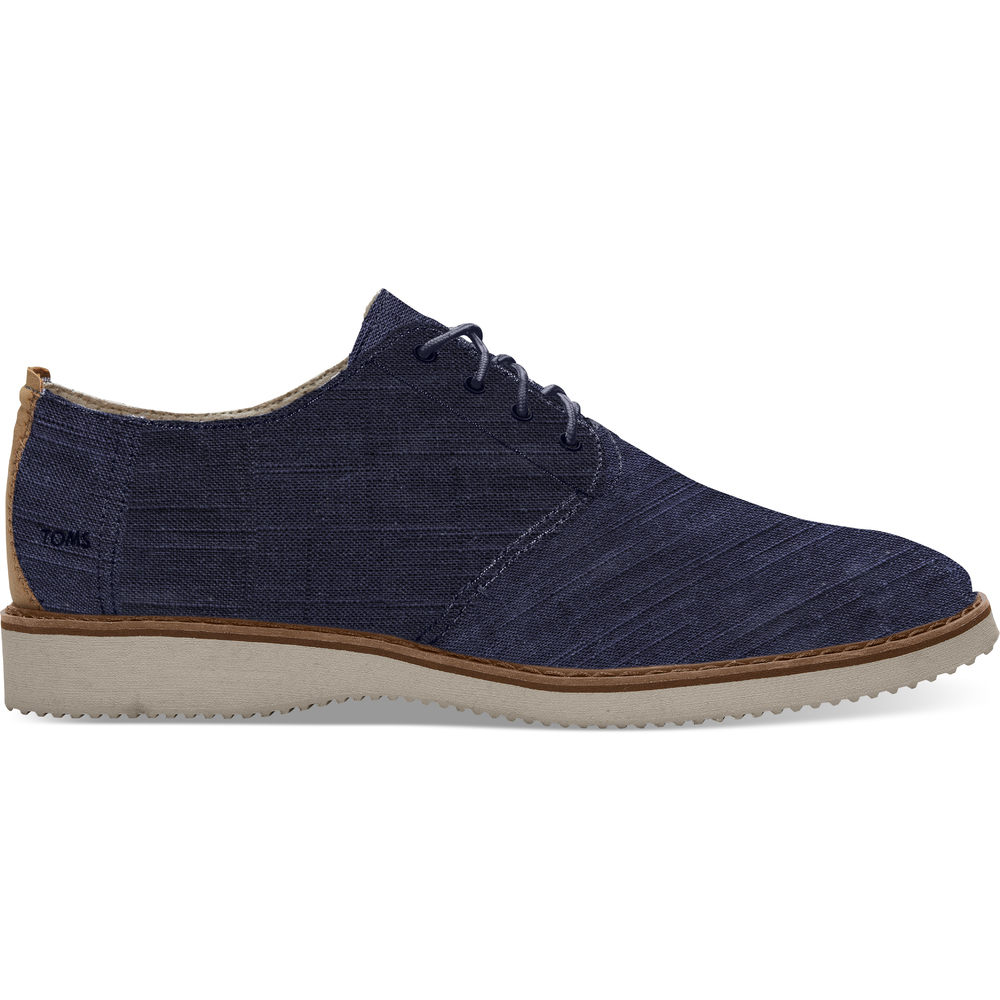 Navy Linen Toms Preston