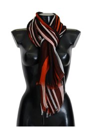 Striped Print Silk Scarf