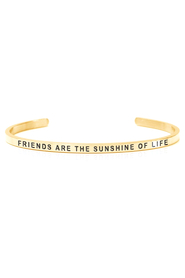 Armring med tekst -  FRIENDS ARE THE SUNSHINE OF LIFE  - 7208