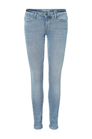 Blå Noisy May Jeans-Eve light blue denim