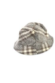Checkered Wool Hat