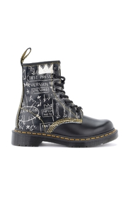 Basquiat holes amphibian in graffiti leather
