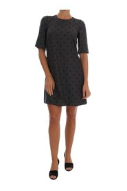Polka Dotted Sheath Wool Dress