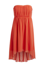 Corsage dress hot coral
