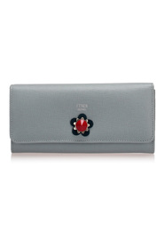 Flowerland Leather Long Wallet