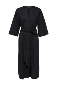 Carlotta 3/4 midi hood dress