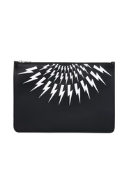 POUCH WITH THUNDERBOLT PRINT