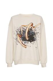 Rose Artwork Swirl Sweater