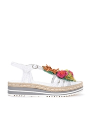 Milan sandal in white leather