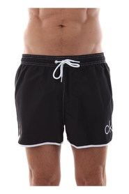CALVIN KLEIN KM0KM00263 SHORT RUNNER swimsuit  sea and pool Men BLACK