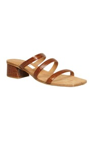 Linley Clay croco pattern leather sandals
