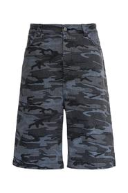 Camouflage Denim Bermuda Shorts