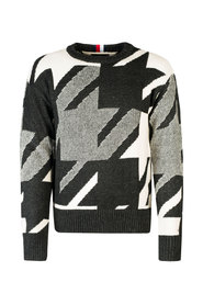 Sweter Houndstooth