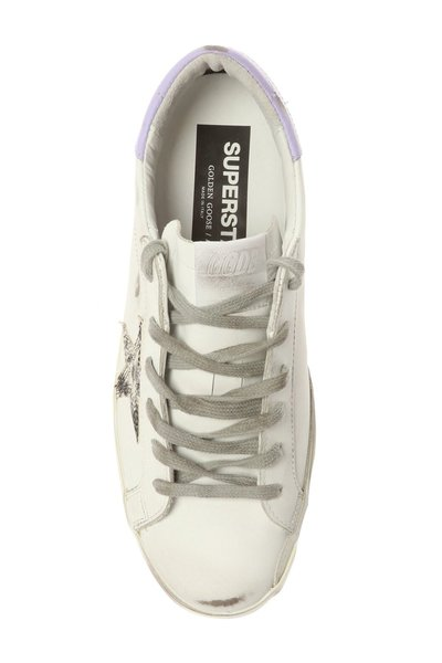 Golden Goose White Superstar Distressed Sneakers - Wit hNKVja5