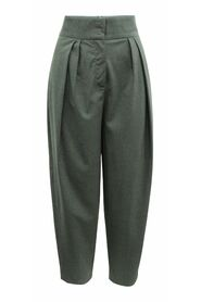 Wool Office Pants with Pleats