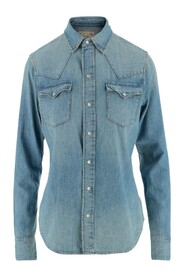 Shirt Collar Front closure with snap buttons