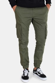 Only & Sons Tarp Stage Cargo Cuff Pants Olive Night