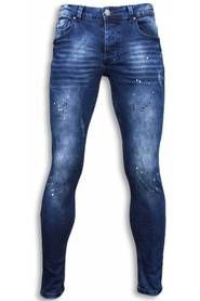 Exclusieve Jeans - Slim Fit Paint Drops Jeans