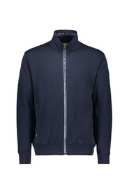 Cardigan with zip and logo on the left sleeve
