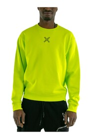 Lime sport classic sweatshirt man with logo to the front