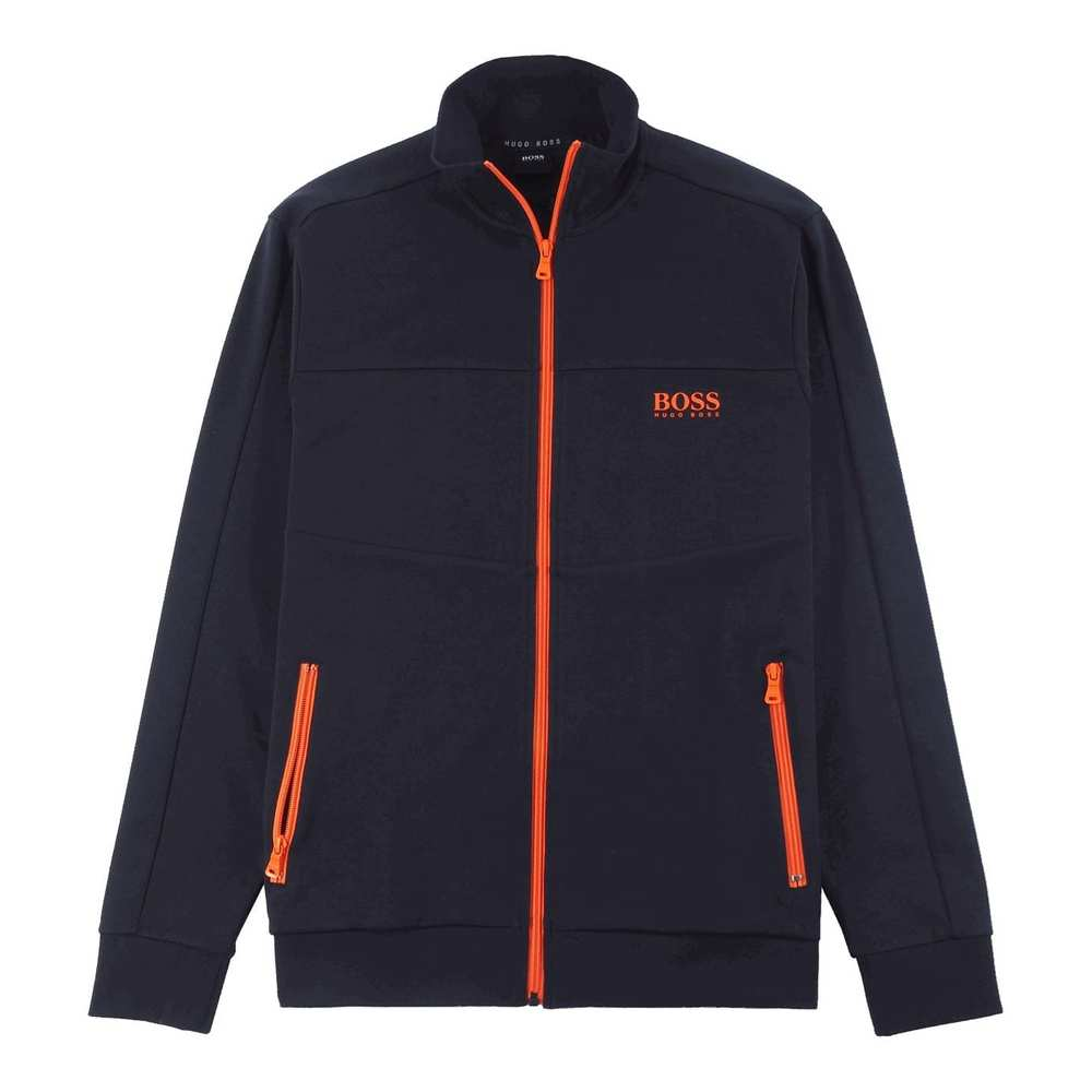 Regular Fit Sweatshirt Jacka i en bomullsmix