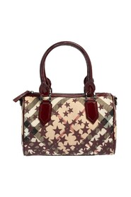Pre-owned Star Print Supernova Check Coated Canvas and Patent Leather Boston Bag