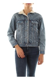 LEVIS 36137 0005 EXBF SHERPA JACKET AND JACKETS Women DENIM MEDIUM BLUE