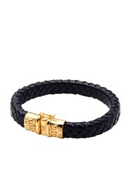Black Leather With Gold Lock
