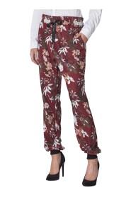 Spodnie dresowe w kwiaty