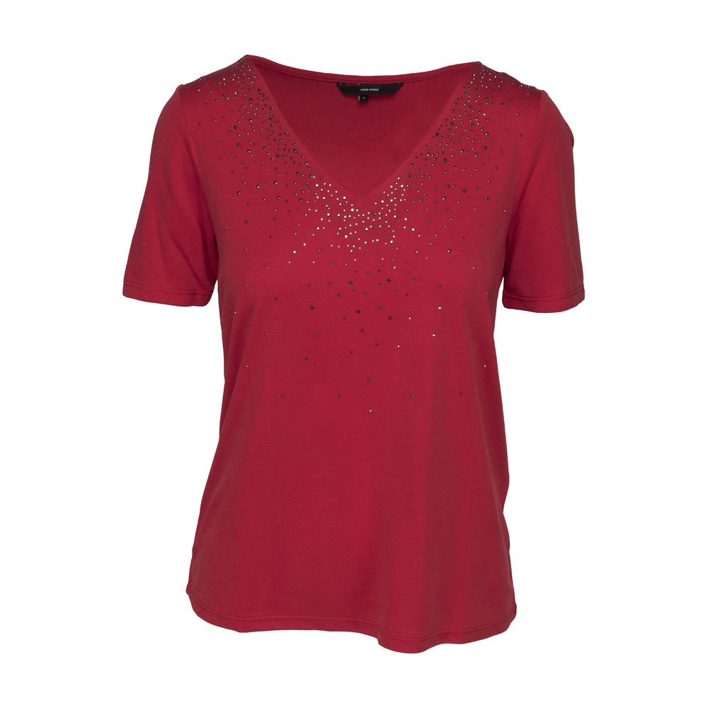 VeroModa Ann ss Top Chinese Red
