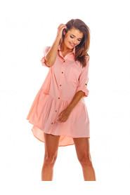 Sukienka koszulowa z wiskozy A300