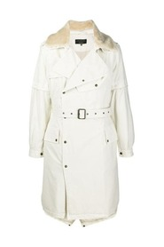 NICK WOOSTER CAPSULE  TRENCH WITH LAMB FUR