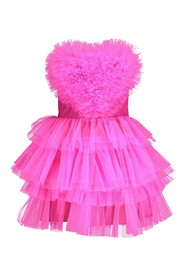 Heart Dress Nina fluo pink tulle dress