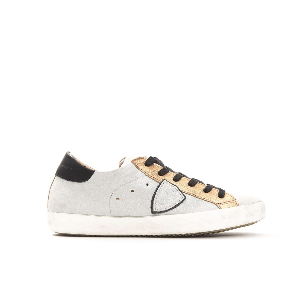 White Tropez X sneaker with animal spoiler | Philippe Model